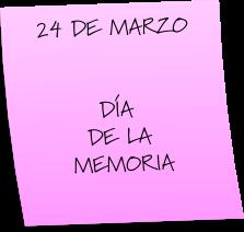 ACTO DE LA MEMORIA