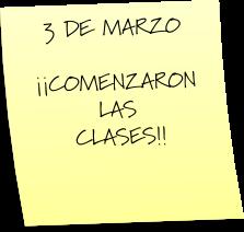 PRIMER DÍA DE CLASE EN LA ESCUELA