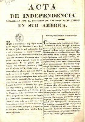 ACTA DE LA DECLARACIÓN DE LA INDEPENDENCIA