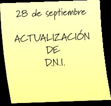 ACTUALIZACIÓN DEL DNI