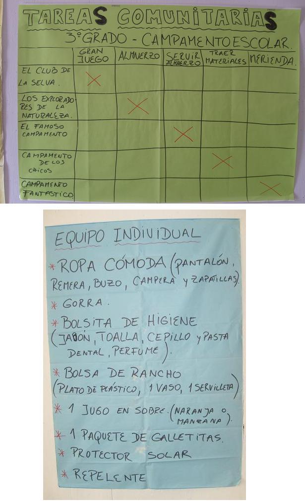 3º - ORGANIZÁNDOSE PARA EL CAMPAMENTO