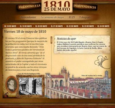 ¿QUÉ SUCEDIÓ EN LA SEMANA DE MAYO DE 1810?