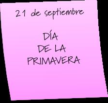 ¡FELIZ DÍA DE LA PRIMAVERA!