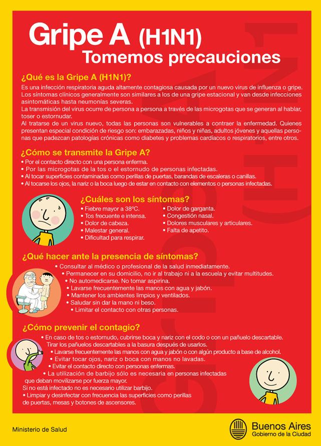 recomendaciones por la Gripe A