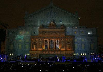 Un espectáculo multimedia de luz, sonido y animaciones 3D se proyectó sobre su fachada. Foto: GCBA. Foto Estrella Herrera-gv/GCBA.