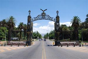 Portones del parque San Martín en Mendoza